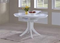 Стол обеденный раздвижной из массива 2055 цвет Белый