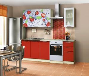 Набор мебели для кухни Диана 8 (Клубника) Комплектация 1600