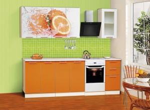 Набор мебели для кухни Диана 8 (Персик) Комплектация 1800