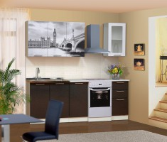Набор мебели для кухни Диана 8 (Город коричневый)  Комплектация 1600