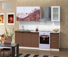 Набор мебели для кухни Диана 8 (Кофе)  Комплектация 1600