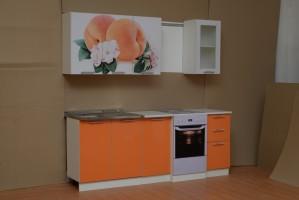 Набор мебели для кухни Диана 8 (Персик) Комплектация 1600