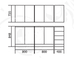Набор мебели для кухни Диана 3.1